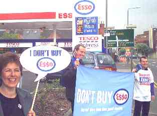 Nottingham FOE and Greenpeace supporting Stop Esso Campaign