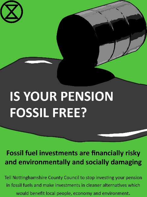 Is your pension fossil free? - oilspill image