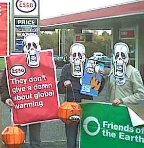 Nottingham FOE campaigners supporting Stop Esso Campaign
